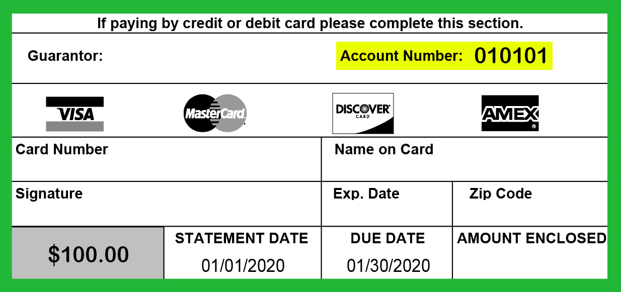 Account Number From Bill